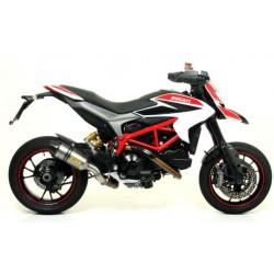 71806AK Arrow terminale scarico Race Tech alluminio dark Ducati Hyperstrada + raccordo 71490MI