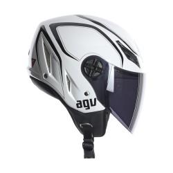 Agv casco jet Blade Tab whit-black helmet casque