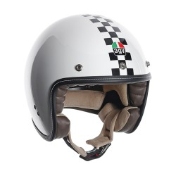 Agv casco jet RP60 Checker flag helmet casque