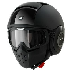 Shark Raw casco jet dual black helmet casque