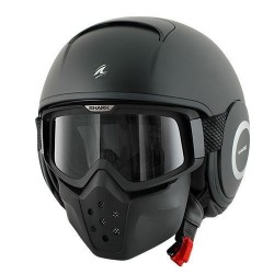 Shark Raw casco jet matt black helmet casque