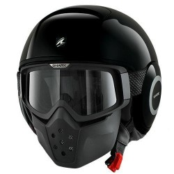 Shark Raw casco jet nero lucido helmet casque