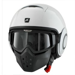 Shark Raw casco jet bianco lucido helmet casque