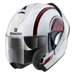 Shark Evoline Moov up casco modulare white-black-red