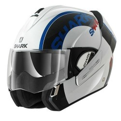 Shark Evoline 3 Drop casco modulare white-red-blu