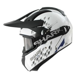 Shark Explorer Arachneus withe-blu-silver casco Enduro helmet casque
