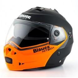 Blauer casco modulare Sky nero-arancio helmet casque