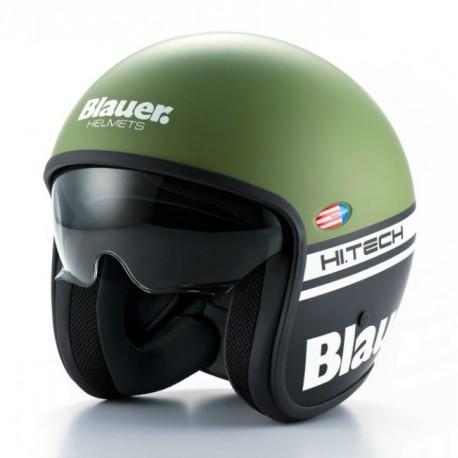Blauer casco jet Pilot 1.1 green matt helmet casque