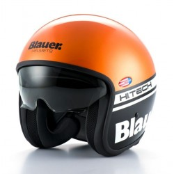 Blauer casco jet Pilot 1.1 orange helmet casque