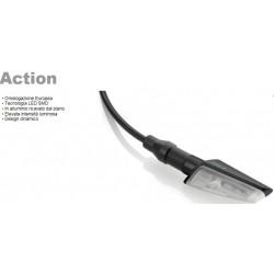 Rizoma coppia frecce moto Action led nere omologate