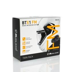 Midland BTX1-FM interfono Bluetooth casco confezione doppia