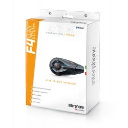 Interphone F4 MC interfono bluetooth casco moto confezione singola