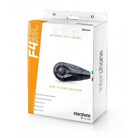 Interphone F4 MC interfono bluetooth casco moto confezione singola