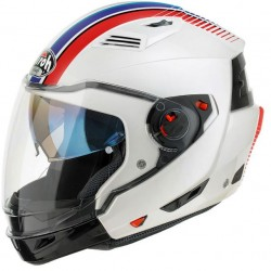 Casco Airoh Executive Stripes jet modulare integrale helmet white