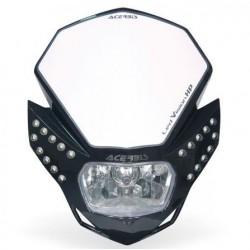 Acerbis mascherina faro Led vision HP omologata nera moto
