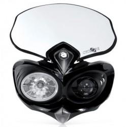 Acerbis mascherina Cyclope con faro omologato nera moto