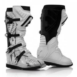 Acerbis paia Stivali Shark Boots bianco-nero cross motard enduro