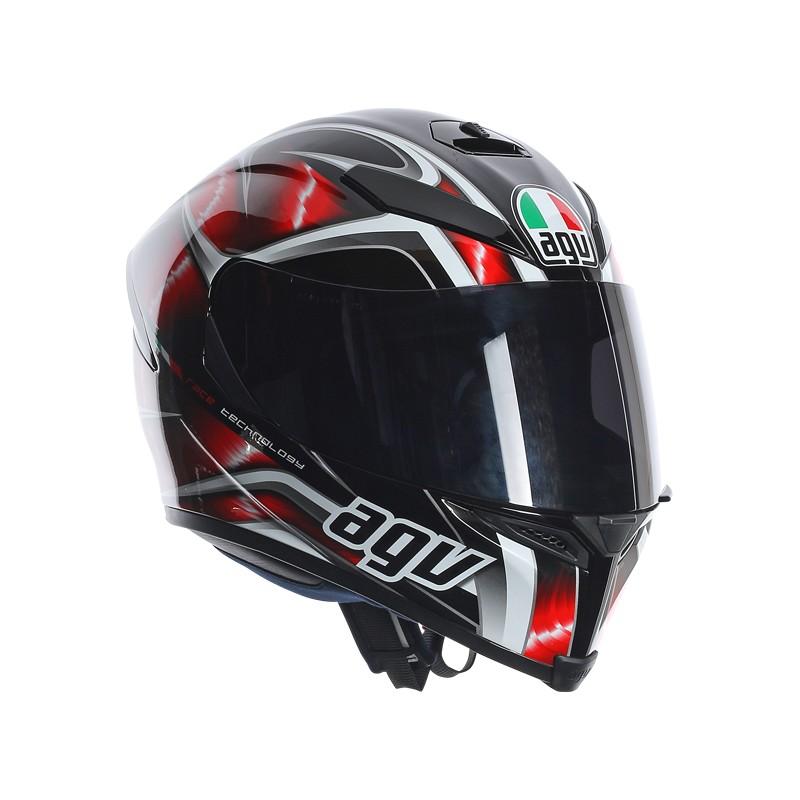 agv k5 s hurricane black red casco helmet casque integrale pinlock. Black Bedroom Furniture Sets. Home Design Ideas