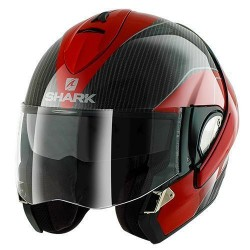 Shark Evoline 3 Pro Carbon casco modulare red-white