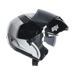 Agv casco modulare Compact Course white-gunmetal helmet casque