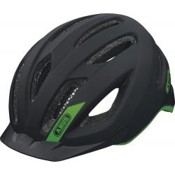 Abus casco bici Pedelec nero opaco logo verde con luce led