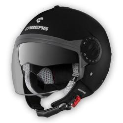 Caberg casco jet Riviera V3 nero opaco matt black helmet casque
