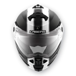 Caberg casco Duke black-white jet modulare helmet casque