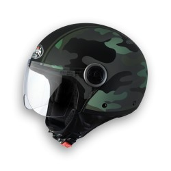 Casco Airoh Compact Military green jet helmet casque