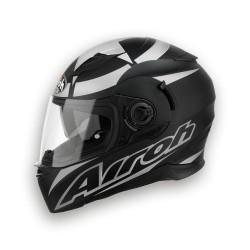 Casco Airoh Movement Shot black matt silver integrale helmet casque