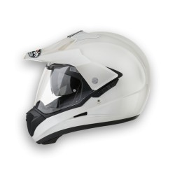 Casco Airoh S5 integrale enduro white pearl helmet casque