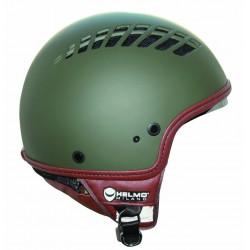 Helmo Milano via col Vento casco jet ventilato verde opaco casque