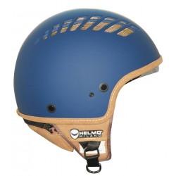 Helmo Milano via col Vento casco jet ventilato blu opaco casque