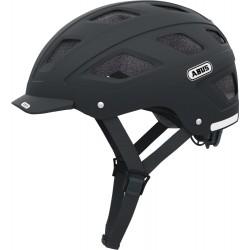 Abus casco bici Hyban nero opaco con fanale led