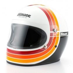 Blauer casco 80s integrale old style vintage helmet casque white