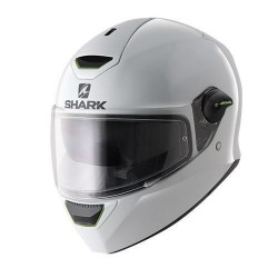 Shark Skwal casco integrale helmet bianco lucido con faro led