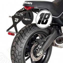 Barracuda Ducati Scrambler moto portatarga regolabile