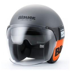 Blauer casco jet Pod titanium opaco arancio helmet