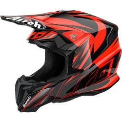 Casco Airoh Twist helmet Evil orange casque cross