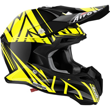 Casco Airoh Terminator 2.1 helmet Cut yellow casque cross