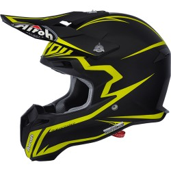 Casco Airoh Terminator 2.1 helmet Fit black-yellow casque cross