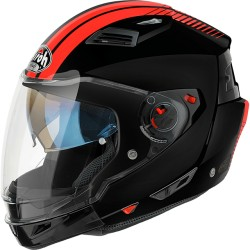 Casco Airoh Executive Stripes jet modulare black orange integrale helmet