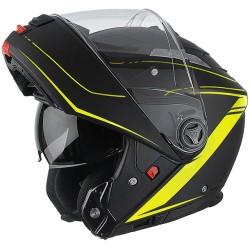 Casco Airoh Phantom Lead black yellow modulare doppia omologazione