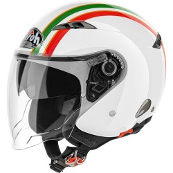 Casco Airoh City one Style Italia jet helmet bianco lucido casque