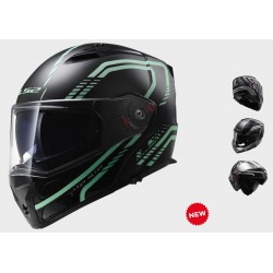 LS2 casco modulare Metro Firefly black helmet casque