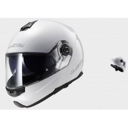 LS2 casco modulare FF325 Strobe solid white helmet casque