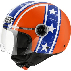 Casco Airoh Compact Hazzard orange jet helmet casque