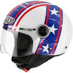 Casco Airoh Compact Hazzard white jet helmet casque