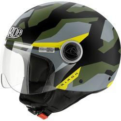 Casco Airoh Compact Camo green jet helmet casque