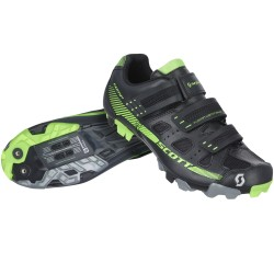 Scott scarpe ciclo Mtb Comp RS nere verde fluo