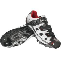 Scott paia scarpe ciclo Mtb Pro bianche-nere bici
